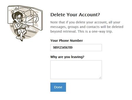 حذف حساب کاربری تلگرام, ریپورت اسپم