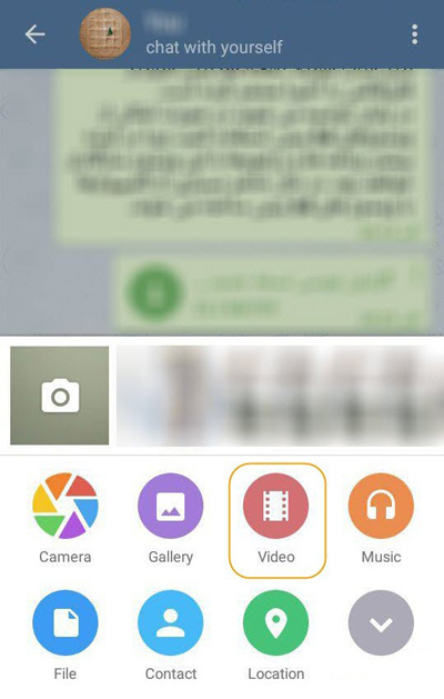 پیام رسان تلگرام ,  ساخت گیف در تلگرام