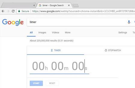 امکانات گوگل , زمان سنج
